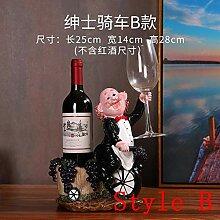 Amuuuz Weinregal Dekoration Chef Wine Rack Wine