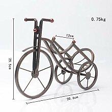 Amuuuz Weinregal Dekoration Retro Fahrrad