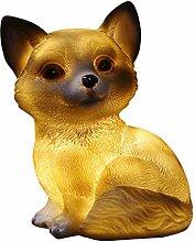 Amuzocity Solarleuchte Tierfigur Dekofigur für