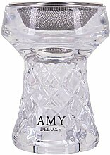 Amy Deluxe Shisha Tabakkopf aus Glas mit Sieb,