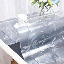 AMYDREAMSTORE 2mm Durchsichtige Kunststoff Tischdecken,Multi-size Wasserdicht Tabelle beschützer Rechteckige Transparent Dick Tischdecke möbelabdeckung Küche arbeitsplatte matte-C 80x120cm(31x47inch)