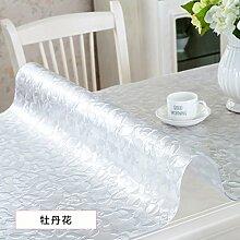 AMYDREAMSTORE Durchsichtige Heavy-duty Tischdecken Geldklammer Wasserdicht Abwaschbar Vinyl Für Rechteck-esstische Mat pad Möbel protector -F 60x100cm(24x39inch)
