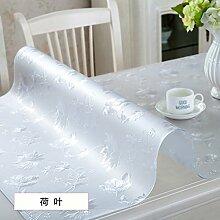 AMYDREAMSTORE Durchsichtige Heavy-duty Tischdecken Geldklammer Wasserdicht Abwaschbar Vinyl Für Rechteck-esstische Mat pad Möbel protector -G 80x150cm(31x59inch)