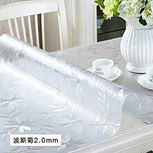 AMYDREAMSTORE Durchsichtige Heavy-duty Tischdecken Geldklammer Wasserdicht Abwaschbar Vinyl Für Rechteck-esstische Mat pad Möbel protector -E 90x160cm(35x63inch)