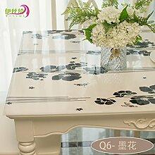 AMYDREAMSTORE Durchsichtige Tabelle tuch Cover protector Verdicken sie Tischdecken Wasserdicht Anti-heiß Transparent Tischsets Kristall Kunststoff Tischdecken Kautschuk-J 70x130cm(28x51inch)