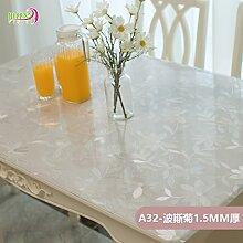 AMYDREAMSTORE Durchsichtige Tabelle tuch Cover protector Verdicken sie Tischdecken Wasserdicht Anti-heiß Transparent Tischsets Kristall Kunststoff Tischdecken Kautschuk-C 70x120cm(28x47inch)