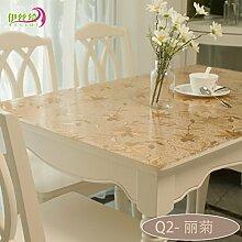 AMYDREAMSTORE Durchsichtige Tabelle tuch Cover protector Verdicken sie Tischdecken Wasserdicht Anti-heiß Transparent Tischsets Kristall Kunststoff Tischdecken Kautschuk-G 60x120cm(24x47inch)