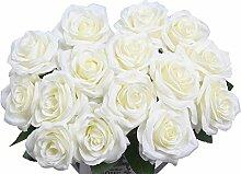 AMYHOMIE Künstliche Blumen Seidenrosen