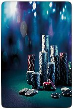 AmyNovelty Fußabstreifer,Pokerturnierdekorationen