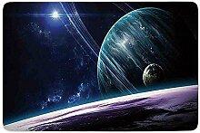AmyNovelty Fußabstreifer,Weltraumuniversum Mit
