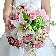 Amyseller Brautstrauß Kunstseide Blumenstrauß