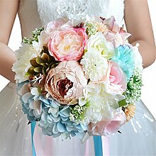 Amyseller Künstliche mehrere seidige Blumen
