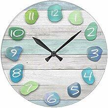 AmyyEden Antik-Holz-Uhr für Schlafzimmer Meer