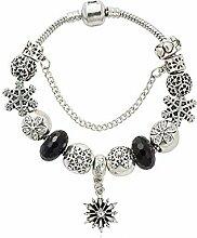 Amzdai Bracelet Damenarmband,Einzigartige Blumen