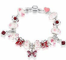 Amzdai Bracelet Damenarmband,Farbige Glasur Perlen
