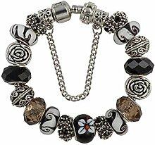 Amzdai Bracelet Damenarmband,Gemischte Farbe Glas