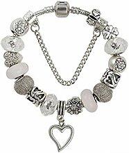 Amzdai Bracelet Damenarmband,Liebe Anhänger