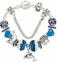 Amzdai Bracelet Damenarmband,Ocean Serie Dolphin