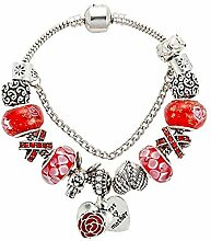 Amzdai Bracelet Damenarmband,Pfirsich Herz Fee
