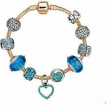 Amzdai Bracelet Damenarmband,Pfirsich-Herz Set