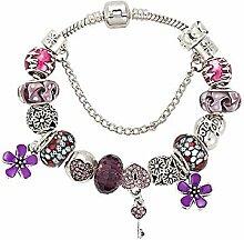 Amzdai Bracelet Damenarmband,Schlüsselanhänger