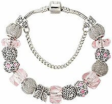 Amzdai Bracelet Damenarmband,Schmetterling Blume