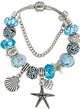 Amzdai Bracelet Damenarmband,Seestern Anhänger