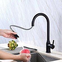 AmzGxp Einlochmontage Schwarz 304 Edelstahl Küche