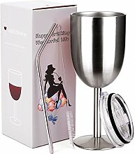 amzushome Edelstahl Wein Glas–doppelwandig