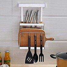 An der Wand montierter Küchenregal-Messerhalter