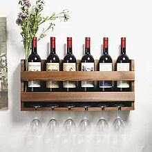 An der Wand montiertes Weinregal 7 Flaschen 6