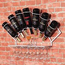 An Der Wand Montiertes Weinregal In Der Küche,