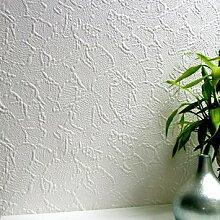Anaglypta Frazer Tapete, Weiß