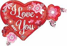 Anagram 3183301 Folienballon I Love You Herz