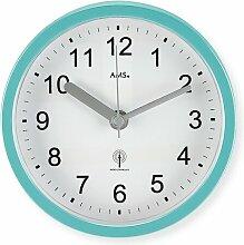 Analog Wanduhr 16 cm AMS Uhrenfabrik Farbe: Türkis