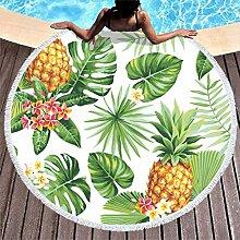 Ananas Blätter Strandtuch Rund Groß Microfaser
