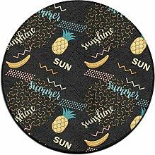 Ananas Kreis Shaggy Teppich Runde Form für Schlafzimmer Wohnzimmer Teppich/Fußmatte/Anti-Rutsch