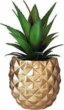 Ananas, künstliche Sukkulente in Kunstharztopf