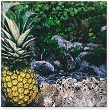 Ananas Pflanze mit Bild Natur glänzend Keramik