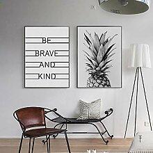 Ananas Seien Sie mutig und Art Classic Zitate