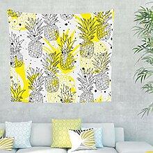 Ananas Wandteppich Wandbehang Tropisch Pflanze