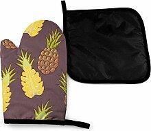Ananasfrucht Braun Tropische Mikrowelle Handschuhe