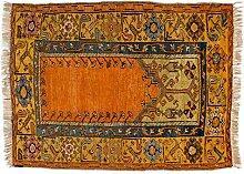 Anatoli alt Türkei ca. 140 x 100 cm · Gelb · handgeknüpft · Schurwolle · Klassisch · hochwertiger Teppich · 13671