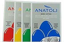 Anatoli Eierfarben Set aus Griechenland rot gelb