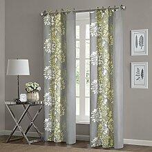 Anaya Fenster Vorhang grau/gelb 160cm Panel