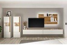 Anbauwand Wohnzimmer mit LED-Beleuchtung CRISP-61