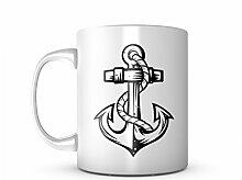 Anchor Sailor Keramik Tasse Kaffee Tee Becher Mug