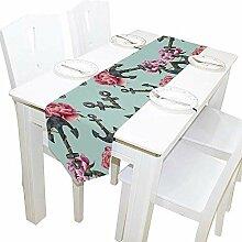 Anchors Floral Table Runner, Tischdecke Runner