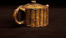 Ancient Court Kupfertopf Teekanne Flachmann aus