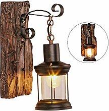 Anclk Holz Wandlampe Industrie Landhausstil